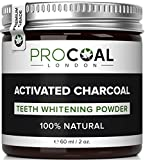 Activated Charcoal Teeth Whitener by PROCOAL - Fast-acting Charcoal Teeth Whitening Toothpaste Powder - 60g