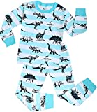 Boys Dinosaurs Pajamas Children Christmas Cotton Clothes Gift Set PJs Size 6 Years