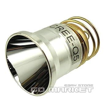 CREE Q5 LED bombilla para Surefire 6P 9P G2 C2 Z2 M2 1-Mode L2 G3 linterna linterna: Amazon.es: Amazon.es