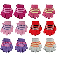 Gelante Toddler/Children Winter Knitted Magic Gloves Wholesale Lot 6-12 Pairs