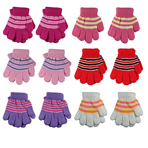 Gelante Toddler/Children Winter Knitted Magic Gloves Wholesale Lot 6-12 Pairs 9903-006-(6-12Y)