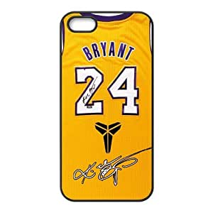 Luckeverything Customize Los Angeles Lakers Kobe Bryant jersey black (TPU) Case Fits and Protect iphone 5