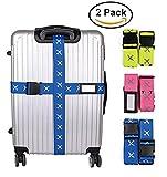 Luggage Straps,QuickBird Adjustable Long Cross Heavy Superior Strength Extra Suitcase Travel Belt (Blue)(Discount code:3VGWSIZ2 )