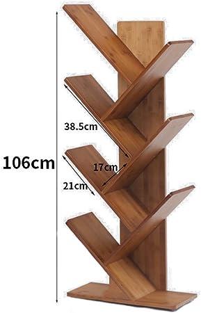 árbol en forma de Madera Estantería de bambú,Espesado Estantería decorativa Nivel 2-6 Repisa escalera Marco decorativo Multifuncional Organizador de almacenamiento -C 44x50x106cm(17x20x42inch): Amazon.es: Hogar