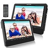 WONNIE 9.5 Car Dual Portable DVD Players, 1024x800 HD LCD TFT, USB/SD/MMC Card