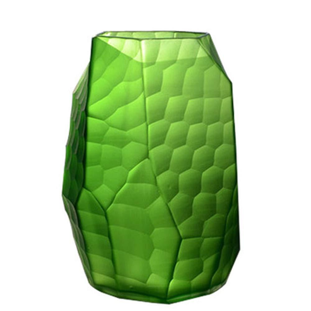 色ガラス花瓶用花緑植物結婚式の植木鉢装飾ホームオフィスデスク花瓶花バスケットフロア花瓶 (サイズ さいず : L l) B07R1KXZ62  L l