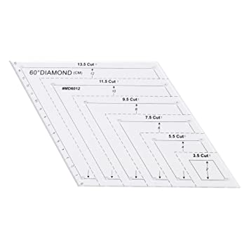 padory useful diy sewing tools 60 degree parallelogram quilting ruler patchwork plastic template