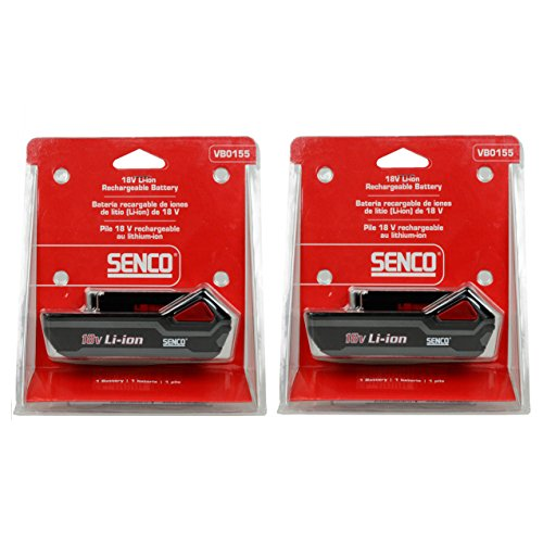 Senco VB0155 18v 1.5Ah Lithium-ion Battery 2PK New for Fusion & DuraSpin Tools ()