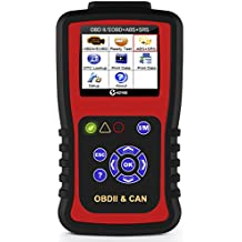 KZYEE KC501 Universal OBD2 Scanner, Enhanced OBD II Car Code Reader / Eraser Supports 11 Modules including ABS & SRS Airbag Diagnostic, for Diesel and Gasoline Engine 12V Vehicles