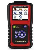 Kzyee KC501 Universal OBD2 Scanner, Enhanced OBD II Car Code Reader/Eraser Supports 10 Modules and ABS & SRS Airbag Diagnostic, for Diesel and Gasoline Engine 12V Vehicles