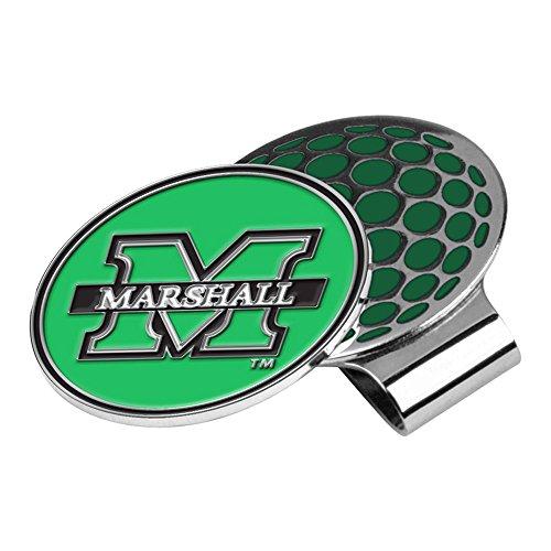 (LinksWalker NCAA Marshall Thundering Herd Golf Hat Clip with Ball)