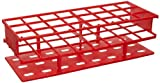 Nalgene 5970-0530 Acetal Plastic Unwire Test Tube Rack for 30mm Test Tubes, Red