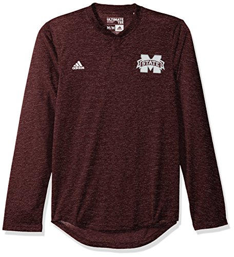 Bulldog Baseball Jersey - adidas NCAA Mississippi State Bulldogs Adult Men Logo Long Sleeve Henley Tee, X-Large, Maroon