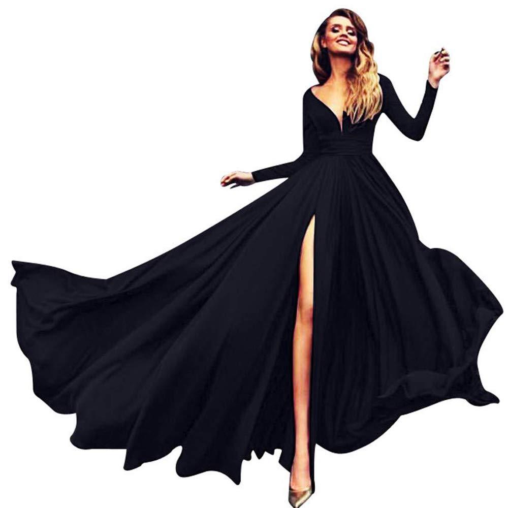 Black AnnaApparel Women Long Evening Gowns Wedding Prom Bridesmaid Dress Elegant Cocktail Party Dresses