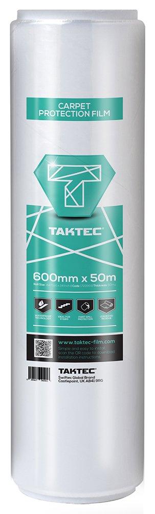 Taktec 172099 Premium Self-Adhesive Carpet Protector - White Swiftec