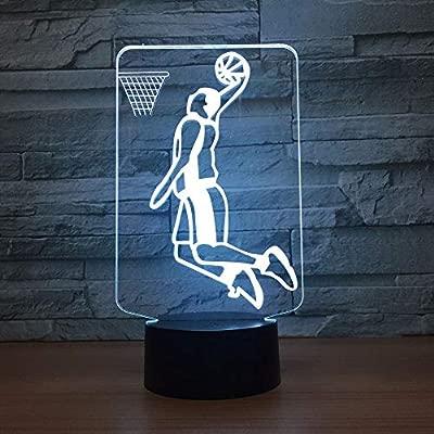 wangZJ Lámpara 3d / Luz de noche 3d para niños/Juego de baloncesto ...
