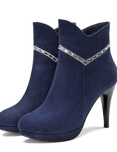 Ante Oficina us8 Zapatos Cerrada Tacón Uk6 C negro Black Xzz Botas Stiletto Redonda Blue Sintético Y Cn39 Mujer Casual Trabajo Eu39 Vestido us8 Punta De Uwnnqz6d