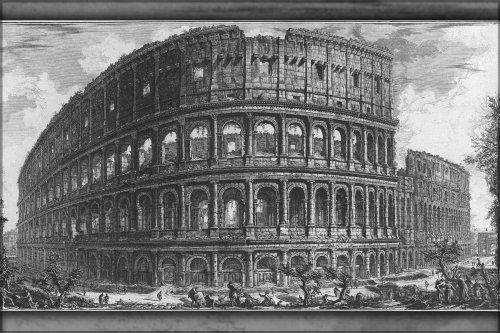 42x63 Poster; Roman Colosseum In A 1757 Engraving By Giovanni Battista Piranesi