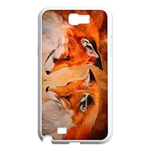 Fox DIY Cell Phone Case for Samsung Galaxy Note 2 N7100 LMc-27626 at