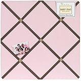 Soho Pink and Brown Fabric Memory/Memo Photo Bulletin Board by Sweet Jojo Designs