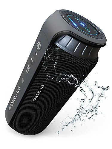 TREBLAB HD55 - Deluxe Bluetooth Speaker - Impeccable 360 HD Surround Sound & Best Bass, Great For Office, Travel & Beach Parties, Waterproof IPX4, Loud 24W Stereo, Portable Wireless Blue Tooth w/ Mic