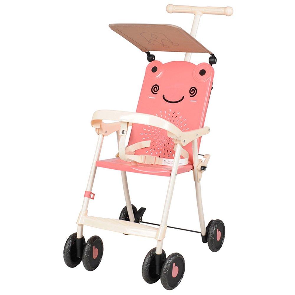 HAIZHEN マウンテンバイク 子供のトロリーを運ぶために軽量で簡単な赤ちゃんのストロークアーティファクト736ヶ月間のピンク 新生児 B07C89TG1X ピンク ぴんく ピンク ぴんく