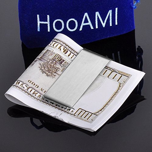 Card 1 Free Clip Holder Style Business Stainless Money Steel ID Personalized Card Engraving HooAMI Cash Engraving Credit Wallet xaOn01