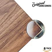 Corner Guards, Clear | 8-Pack Caring Corners Protectors by The Hamptons Baby | Corner Guards for Tables, furniture & sharp corners | Baby Proofing | Protect your child from getting injured