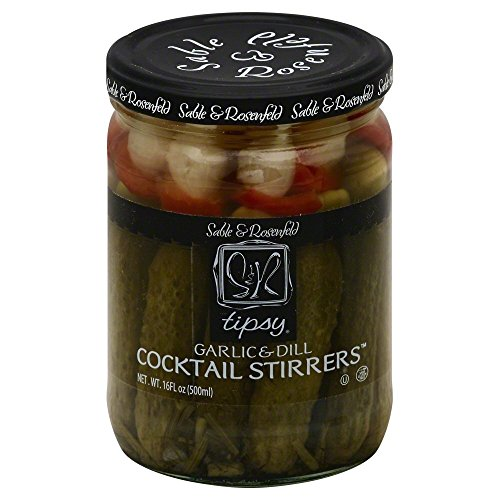 Sable and Rosenfeld Tipsy Garlic & Dill Cocktail Stirrers, 16.0 oz -- 6 per case