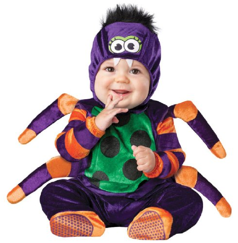 InCharacter Costumes Baby's Itsy Bitsy Spider Costume, Purple/Green/Orange/Black, (Unique Halloween Costumes For Toddler Boy)