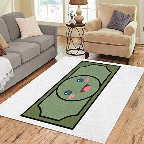 - Pinbeam Area Rug Abundance Bill Dollar Money Kawaii Character Banking Billet Home Decor Floor Rug 3' x 5' Carpet