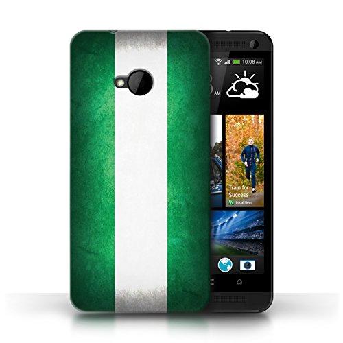 Etui / Coque pour HTC One/1 M7 / Nigeria conception / Collection de Drapeau