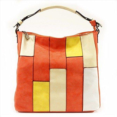 CHARRO borsa sacca secchiello shopping colore vermiglio rosso Colorido qhBdDa0iP