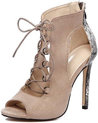 Faionny Women Shoes High Heel Pumps Fashion Shoe Boots Girls Ankle Boots Bandage Hollow Sandals