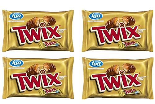 TWIX Fun Size Caramel and Chocolate Cookie Bar Halloween Candy, 10.83 Ounce (4 -