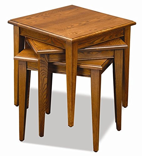 Nesting Tables in Medium Oak Finish Made of Solid Hardwoods Can Finish Your Home Furniture Design