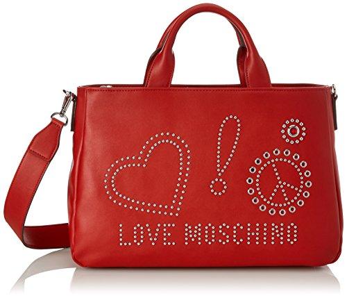 H Moschino Love 12x26x38 T spalla Pu Rosso Donna x Calf Red Borsa Borse a B cm 6SrSgqwda
