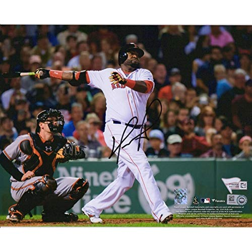 David Ortiz Boston Red Sox FAN Autographed Signed 8x10 Hit Vs Baltimore Orioles Photograph - Certified Signature