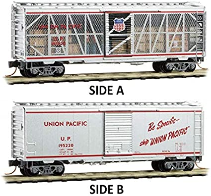 Micro-Trains MTL N-Scale Union Pacific//UP 40ft Box Impact Car//Open Side #195220