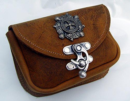 Gürteltasche Wikingerkreuz Farbe hell-braun Bauchtasche Hüfttasche