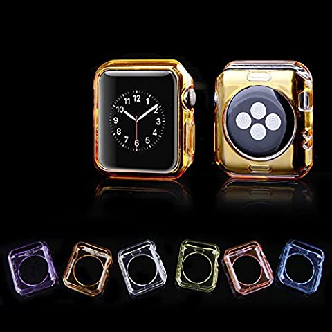 Apple Watch Case Series 2 (2016 Edtion),iDream365(TM) Apple Watch Series 2 42mm Case-6 Color Combination Pack Clear Soft Protective TPU Case for Apple Watch 42mm (2016) Only+Microfiber Cloth