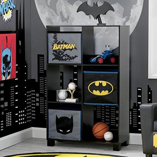 Delta Children 6 Cubby Deluxe Storage Unit (3 Bonus Fabric Bins Included) at Gotham City Store
