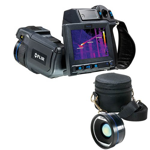 4.3 wide screen LCD ; 30 Hz Image frequency FLIR 55903-5122 Model T620-25 Thermal Imaging IR Camera with Wi-Fi and 25/° Lens; Built-in touch screen 800x480 pixels display; 25/°x19/° field of view FOV