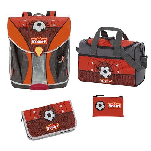 Scout - Nano - Schulranzen Set 4 tlg. - Fußball