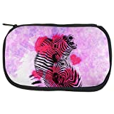Zebra Lovers Valentines Hearts Travel Bag Multi Standard One Size