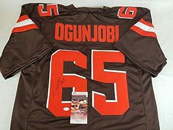 buy popular 8a8d7 34211 Larry Ogunjobi Autographed Jersey - Witness COA #WPP199098 ...