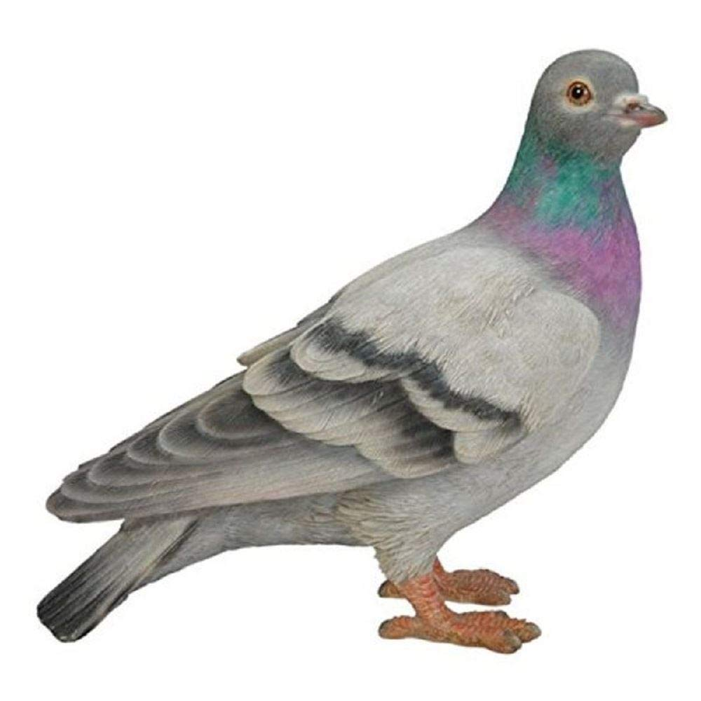 Vivid Resin Hand-made Art Crafts Realistic Doves Pigeon Decor Blue Gray