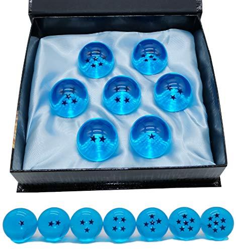 Angelaicos Unisex Stars Acrylic Transparent Play Balls 7pcs Set 4.3cm (Blue) -