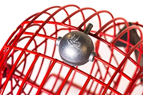 Official Professional-Use Extra Large Red Plastic Coated Bingo Cage Set w/Ping Pong Bingo Balls, 19'' High by Mr. Chips, Inc by Mr. Chips (Image #3)