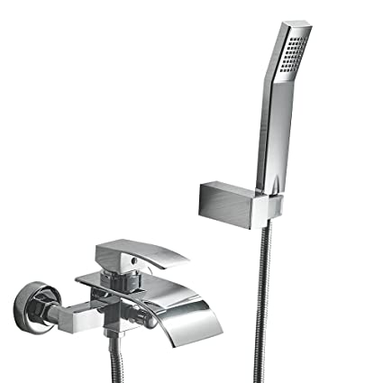 Greenspring Waterfall Wall Mount Bathtub Faucet With Shower Head ...